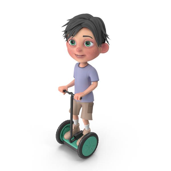 Cartoon Boy Jack Riding Scooter PNG & PSD Images