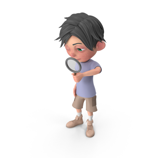 Cartoon Boy Jack Searching PNG & PSD Images
