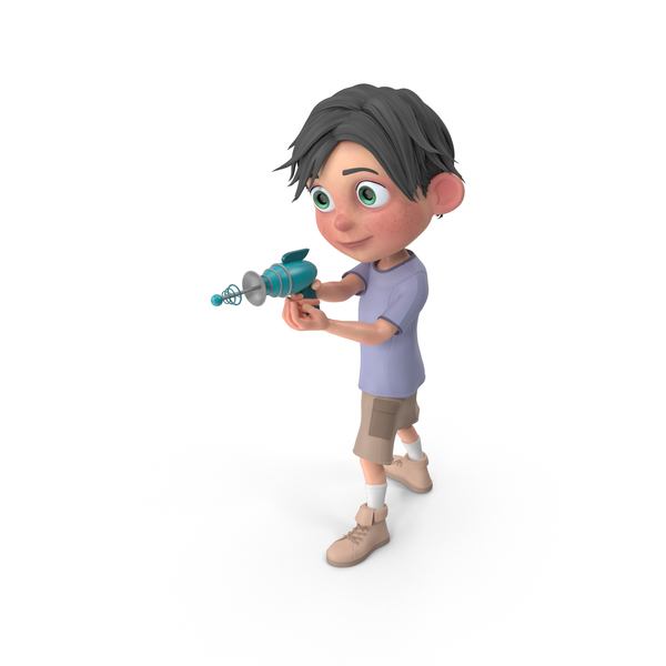 Cartoon Boy Jack Shooting PNG & PSD Images