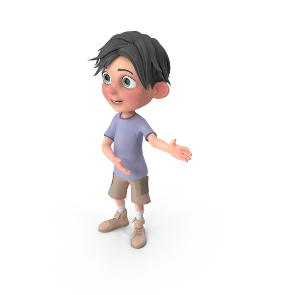 Cartoon Boy Jack Showing PNG & PSD Images