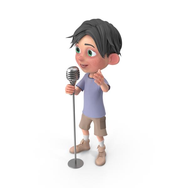 Cartoon Boy Jack Singing PNG & PSD Images
