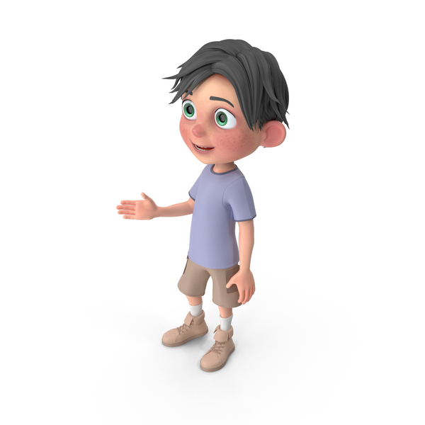 Cartoon Boy Jack Talking PNG & PSD Images