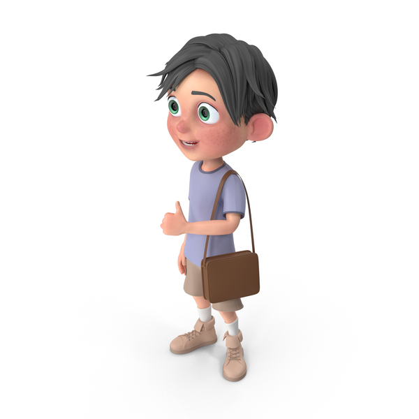 Cartoon Boy Jack Travelling PNG & PSD Images
