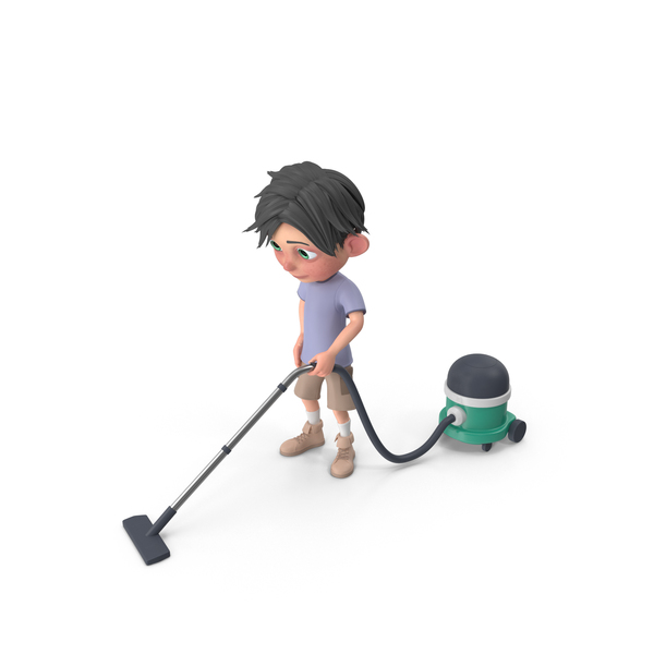 Cartoon Boy Jack Vacuuming PNG & PSD Images