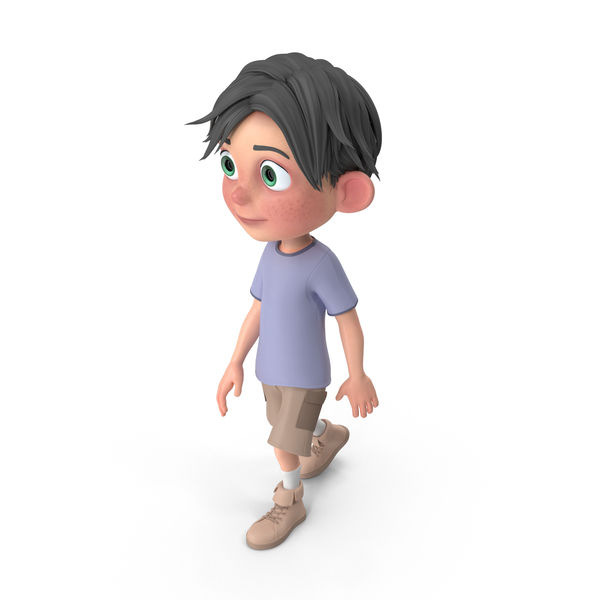 Cartoon Boy Jack Walking PNG & PSD Images