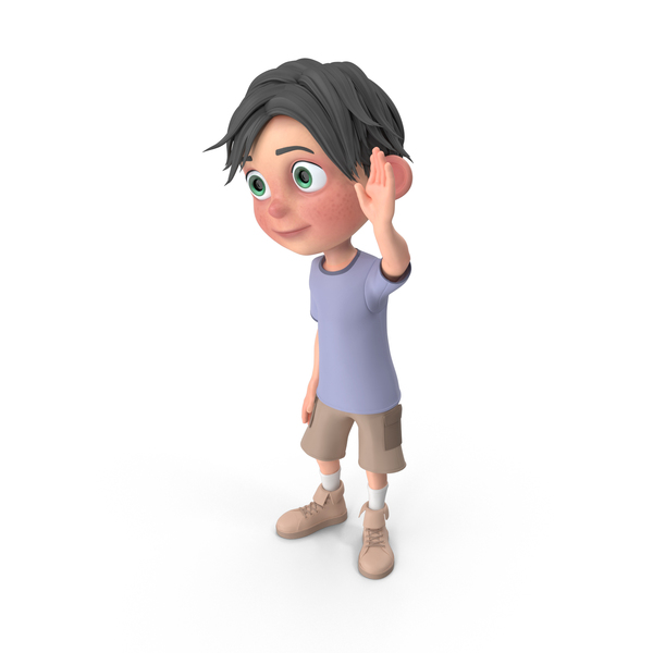 Cartoon Boy Jack Waving Hand PNG & PSD Images