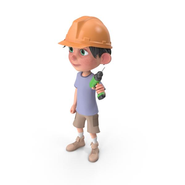 Cartoon Boy Jack Worker PNG & PSD Images