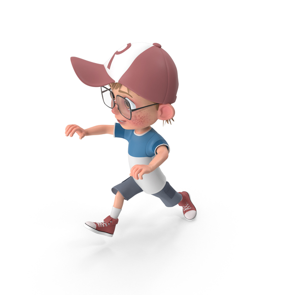 Cartoon Boy Jumping PNG & PSD Images