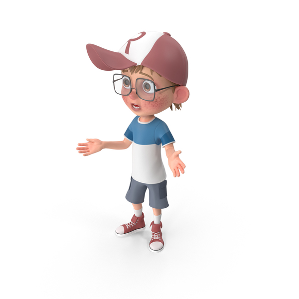 Cartoon Boy Lost PNG & PSD Images
