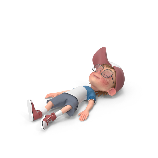 Cartoon Boy Resting PNG & PSD Images
