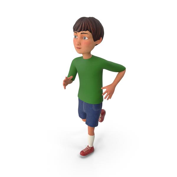 Cartoon Boy Running PNG & PSD Images