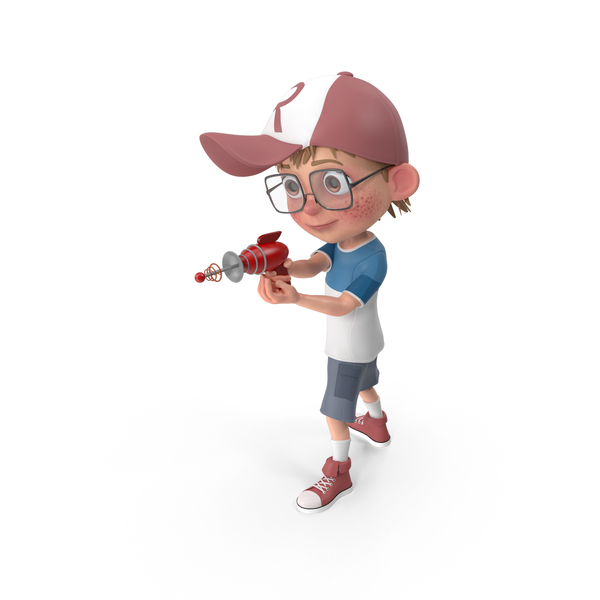 Child: Cartoon Boy Shooting PNG & PSD Images