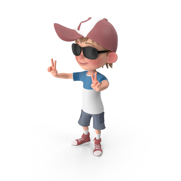 Cartoon Boy Wearing Sunglasses PNG & PSD Images