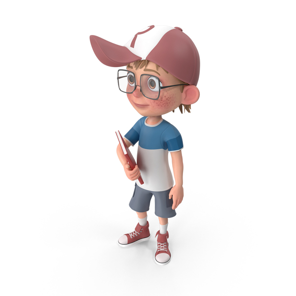 Cartoon Boy with Book PNG & PSD Images