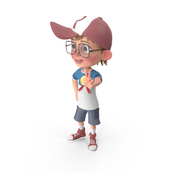 Cartoon Boy with Medal PNG & PSD Images