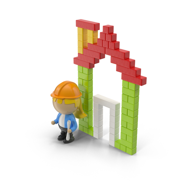Cartoon Building and Character PNG & PSD Images
