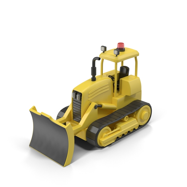 Cartoon Bulldozer Object