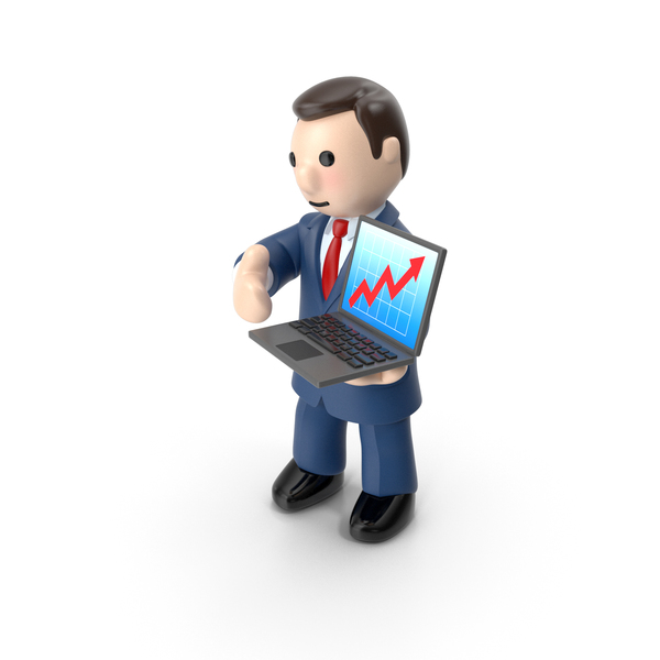 Cartoon Businessman with Notebook PNG & PSD Images