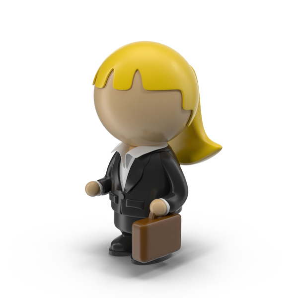 Cartoon Businesswoman Character PNG & PSD Images