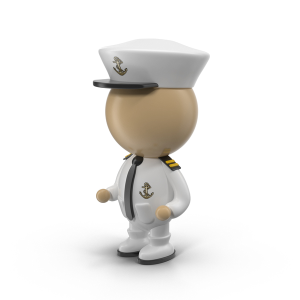 Admiral: Cartoon Captain Character PNG & PSD Images