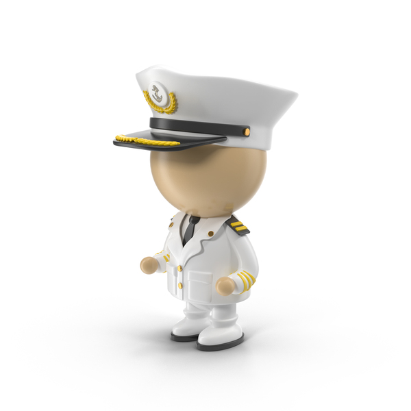 Man: Cartoon Captain Character PNG & PSD Images