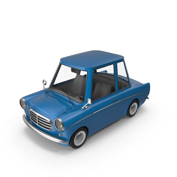 Cartoon Car Blue PNG & PSD Images