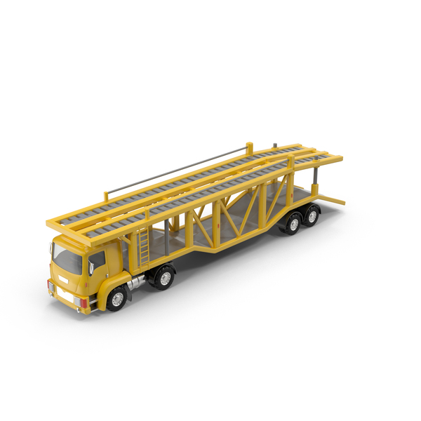 Cartoon Car Carrier Truck Object