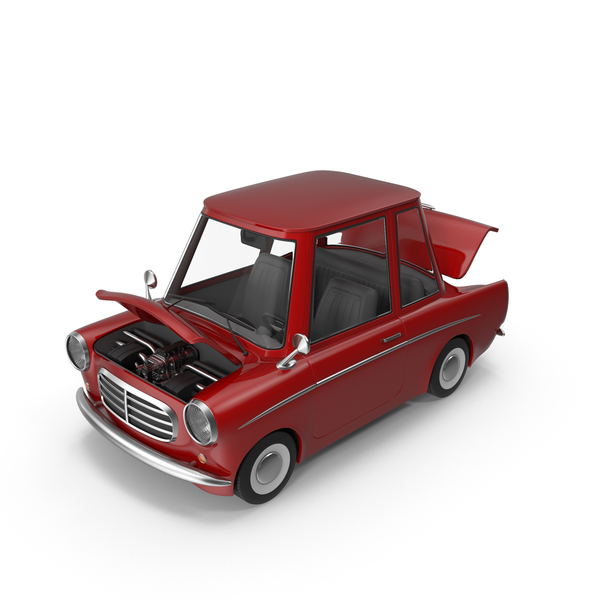 Cartoon Car Open Hood PNG & PSD Images