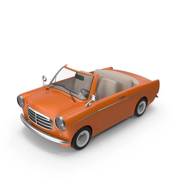 Cartoon Car Orange PNG & PSD Images