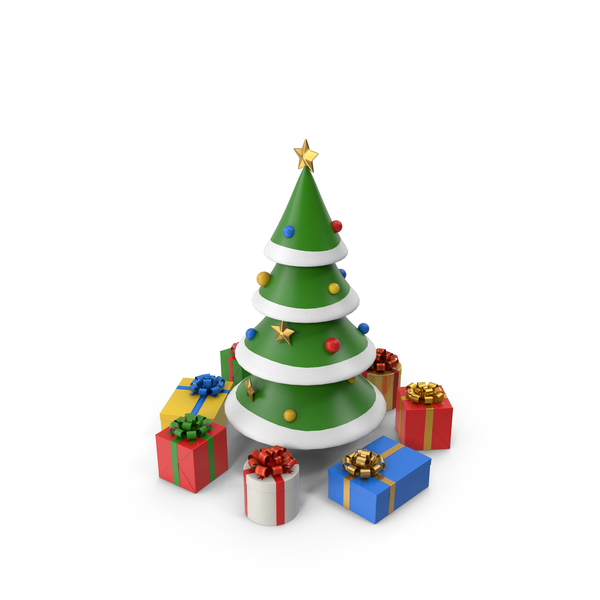Cartoon Christmas Tree PNG & PSD Images