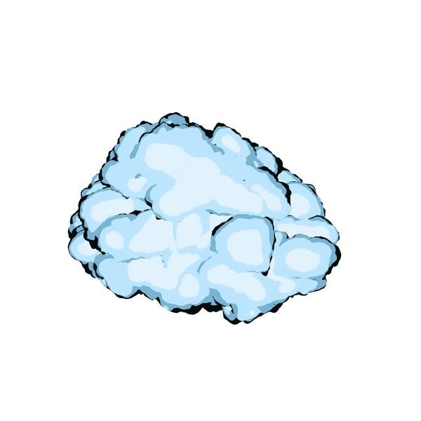 Cartoon Cloud PNG & PSD Images