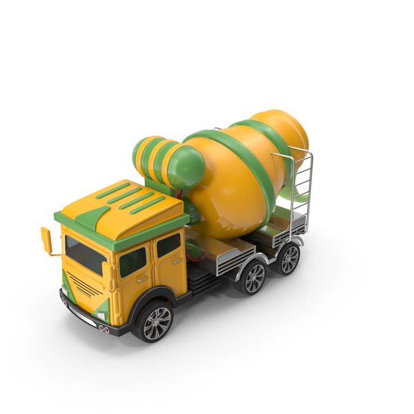Toy Trucks: Cartoon Concrete Mixer Truck PNG & PSD Images