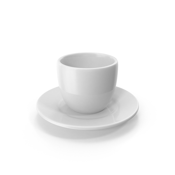 Cartoon Cup on Saucer PNG & PSD Images