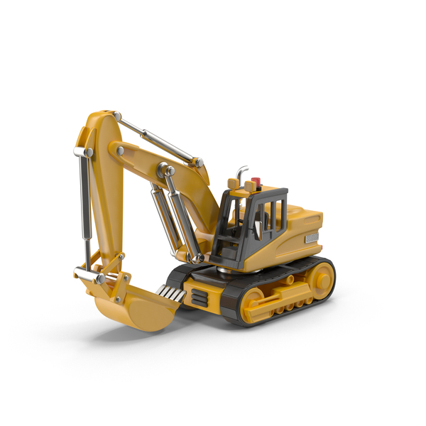 Cartoon Excavator PNG & PSD Images