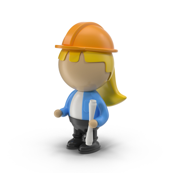 Woman: Cartoon Female Engineer PNG & PSD Images