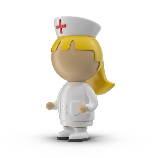 Cartoon Female Nurse Object
