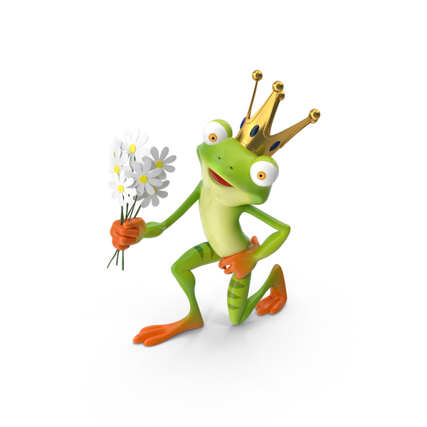 Cartoon Frog Prince PNG & PSD Images