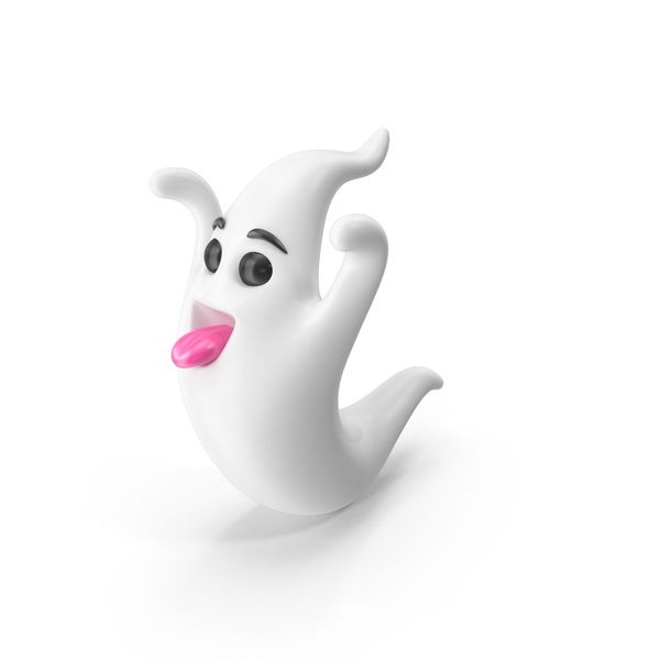 Cartoon Ghost Character PNG & PSD Images