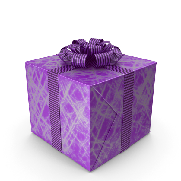 Cartoon Gift Box Purple PNG & PSD Images
