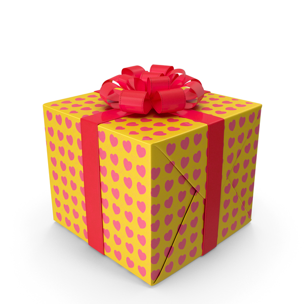 Cartoon Gift Box Yellow PNG & PSD Images
