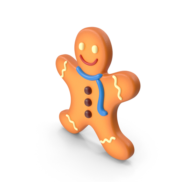 Cartoon Gingerbread Man PNG & PSD Images