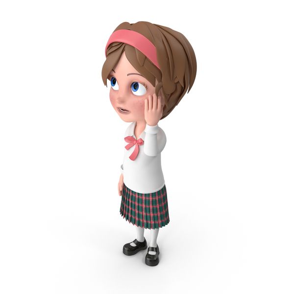 Cartoon Girl Confused PNG & PSD Images