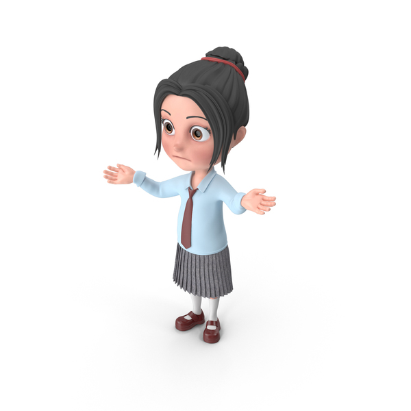 Cartoon Girl Emma Lost PNG & PSD Images