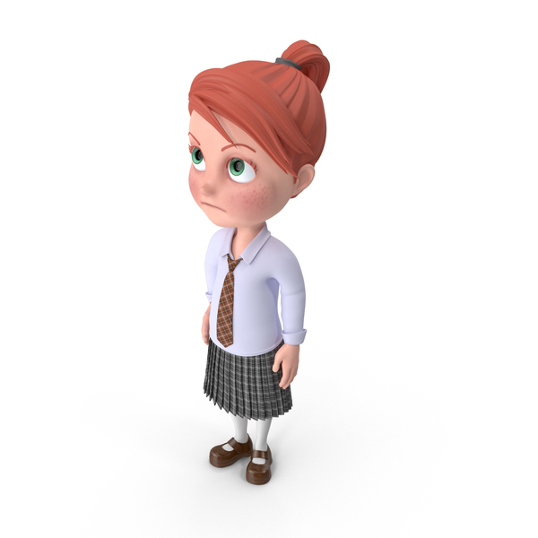 Cartoon Girl Grace Bored PNG & PSD Images