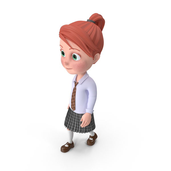 Cartoon Girl Grace Walking PNG & PSD Images