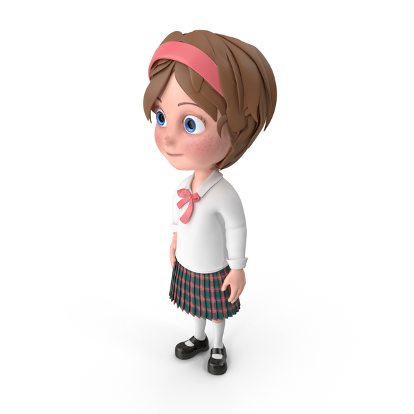 Cartoon Girl Idle PNG & PSD Images