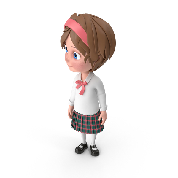 Cartoon Girl Looking Right PNG & PSD Images