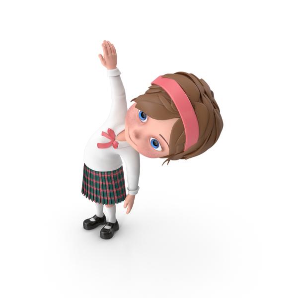 Cartoon Girl Meghan Doing Aerobics PNG & PSD Images
