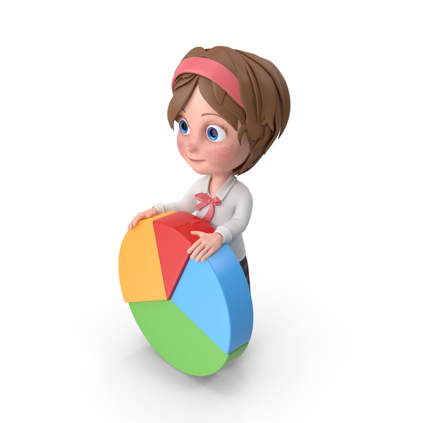 Cartoon Girl Meghan Holding Chart PNG & PSD Images