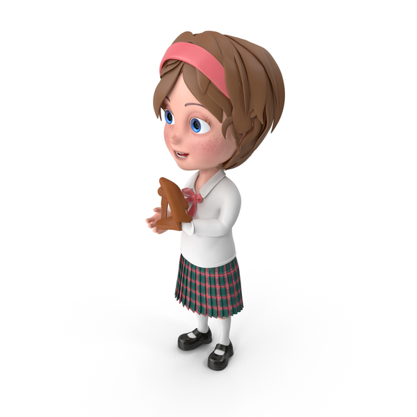 Cartoon Girl Meghan Playing Baseball PNG & PSD Images